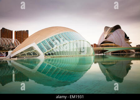 Exterior of the Hemisferic and Palau de les Arts Reina Sofia in Valencia spain - Stock Image
