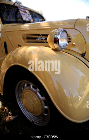vintage Ford Popular, a classic British motor car - Stock Image