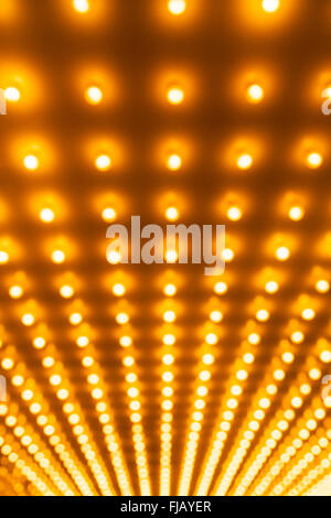 Theater lights defocused out of focus picture - Stock Image