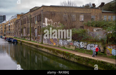 Caird and Rayner Sailmakers Loft Limehouse London UK Dec 2018 Seen here at the back on Limehouse cut. - Stock Image