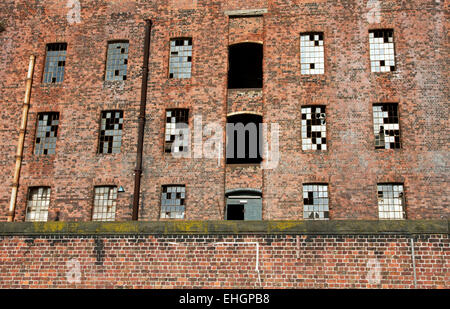 South Warehouse (1852-55) ,Stanley Dock, Regent Road, Liverpool, Merseyside, England, UK - Stock Image