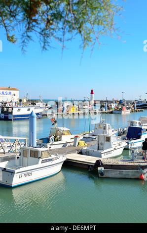 Fishing port, La Cotiniere  on ile Olereon, Charente Marime, France - Stock Image