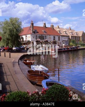Riverside at Ely Cambridgeshire UK - Stock Image
