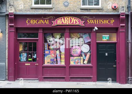 Hardys Original Sweetshop in Brushfield Street, Spitalfields, London, England, UK - Stock Image