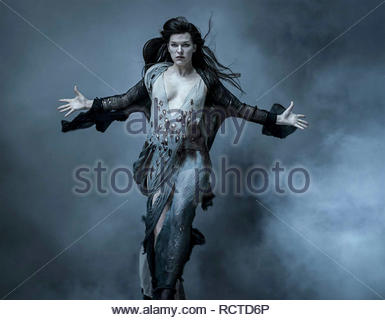 HELLBOY 2019 Dark Horse Entertainment film with Milla Jovovich as Nimue the Blood Queen - Stock Image