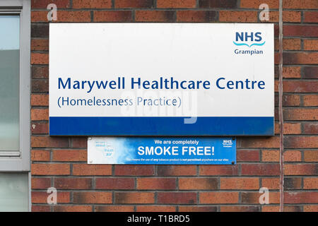 Marywell Heathcare Centre Homelessness Practice, Aberdeen, Scotland, UK - Stock Image