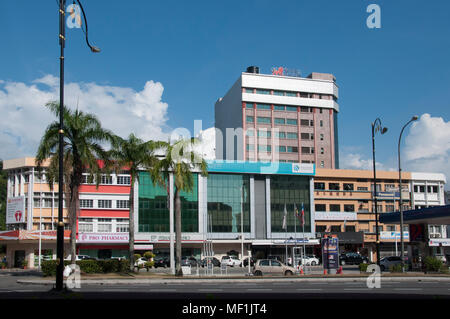 City centre streetscape, Kota Kinabalu, Sabah, Malaysian Borneo - Stock Image