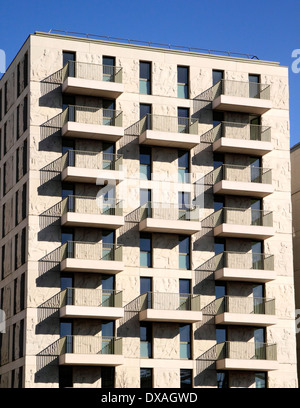 New flats East Village Olympic Park Stratford London - Stock Image