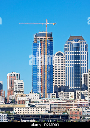 downtown Seattle from Waterfront - Stock Image