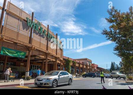 Whole Foods Market Store Cupertino California - Stock Image