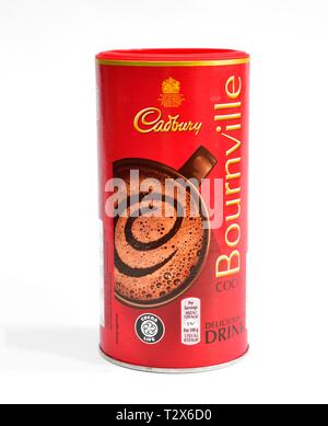 Bournville Cocoa Drink,250g retail pack - Stock Image