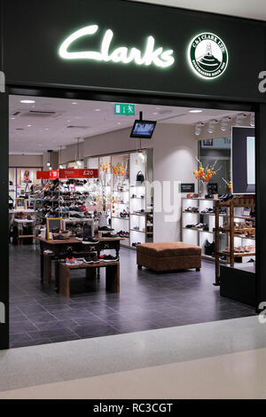 Clarks shoe shope in Stirling, UK - Stock Image