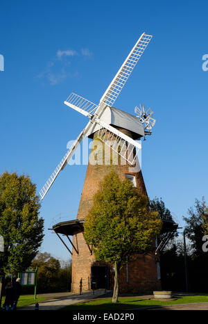 windmill in rayleigh essex - Stock Image