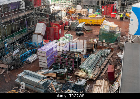Building site of the £38 million student apartments complex next to the Belgrade Theatre, Coventry, West Midlands, UK. - Stock Image