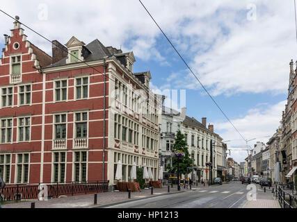 Historical Buildings Ghent Belgium - Stock Image
