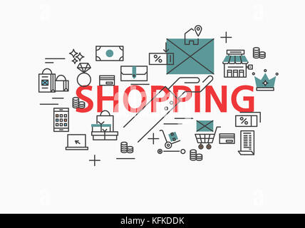 Infographic illustration related to SHOPPING - Stock Image