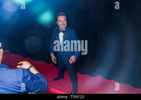 Jimmy Fallon attends TIME 100 GALA on April 23 in New York City - Stock Image