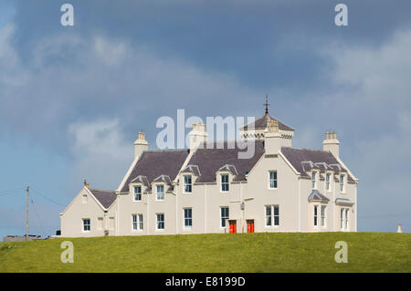 Uig Lodge. Smoked Salmon producers in Uig on the Isle of Lewis in the Western Isles - Stock Image