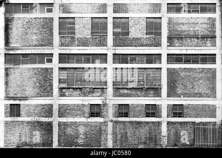 Industrial Building off the River Lea, Poplar, London, England, United Kingdom - Stock Image
