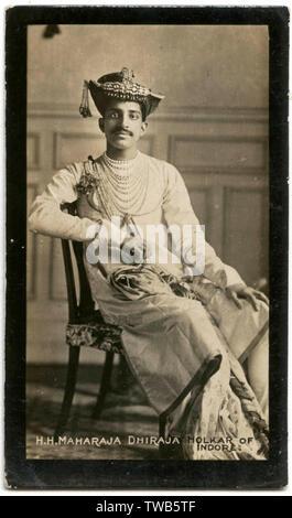Maharajah Dhiraja Holkar of Indore (Tukojirao Holkar III) (reigned 1903-1926), Indian ruler, First World War.      Date: circa 1913-1914 - Stock Image