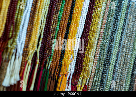 Islamic rosary with different materials, colors and shapes - Stock Image