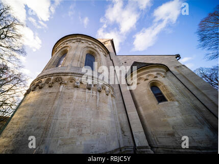 Koenigslutter, Germany, January 3., 2019: Wide-angle view from the outside of the dome - Stock Image