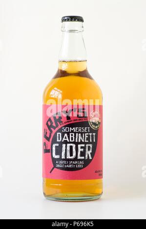 Unopened bottle of Somerset cider in uk - Stock Image
