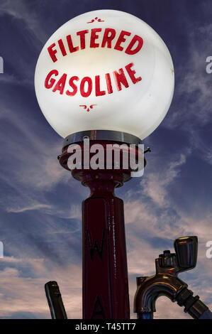 Restored vintage gas pump - Stock Image