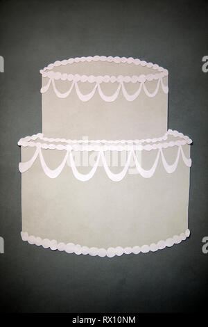 Paper Cake Collage - Stock Image