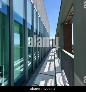 Contemporary office building. Steel and glass. On the roof of Friargate in Coventry's new business district. City of Culture 2021. - Stock Image