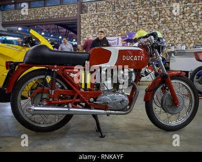 Ducati 24 Horas 250. Made in Spain by Mototrans. Retro Málaga 2019. Spain. - Stock Image