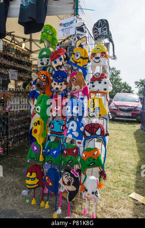 Knitted handmade hats at Wings and Wheels - Stock Image