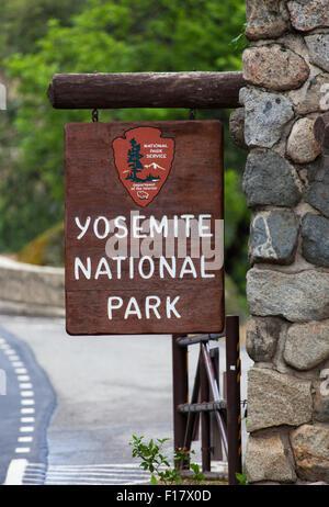 Park Entrance, Yosemite National Park, California, USA - Stock Image