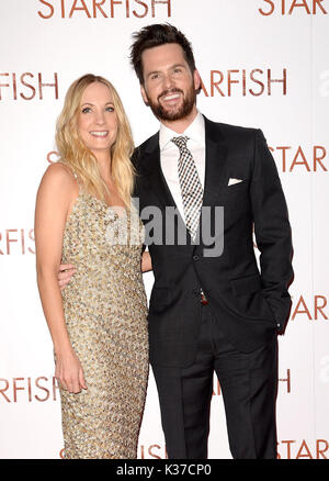 Photo Must Be Credited ©Alpha Press 078237 27/10/2016 Tom Riley and Joanne Froggatt at the UK film premiere of Starfish held at The Curzon Mayfair in London. - Stock Image