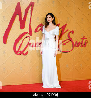 London, UK. 10th Dec 2018. Gemma Chan at Mary Queen Of Scots European Premiere on Monday 10 December 2018 held at Cineworld Leicester Square, London. Pictured: Gemma Chan. Credit: Julie Edwards/Alamy Live News - Stock Image