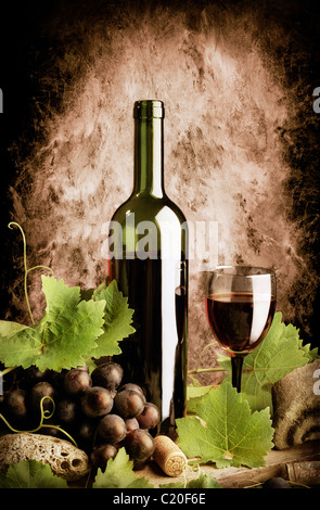Red wine still life - Stock Image