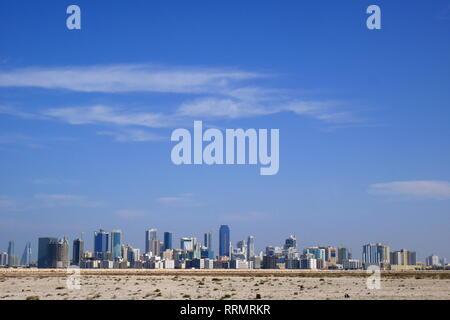 View of Manama, taken from Nurana Island, Kingdom of Bahrain - Stock Image