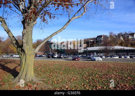 Fall scene in Dobbs Ferry,  NY, USA - Stock Image