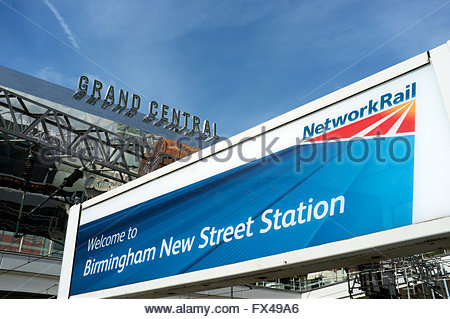 Birmingham New Street railway station (Network Rail managed), with the Grand Central shopping centre visible. Birmingham, - Stock Image