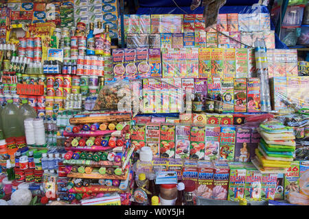 Folk remedies for sale at the La Hechiceria Witches Market in La Paz, Bolivia - Stock Image
