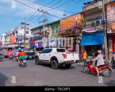 Ranong Road, old town, Phuket town, Thailand - Stock Image