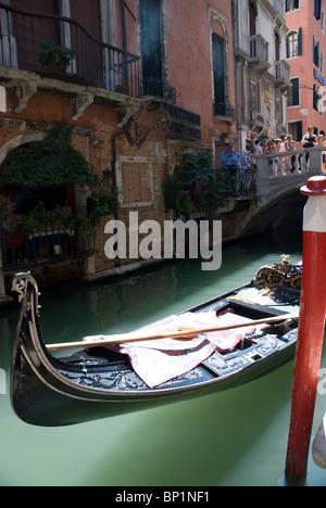 Gondola in Venice, Italy - Stock Image