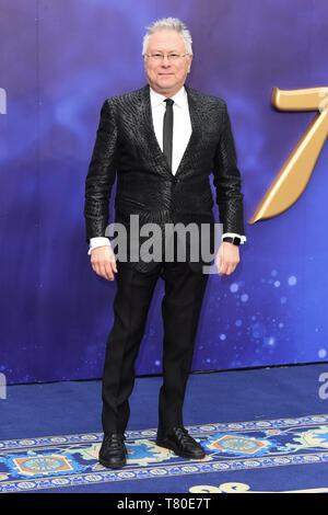 London, UK. 09th May, 2019. LONDON, UK. May 09, 2019: Composer Alan Menken at the 'Aladdin' premiere at the Odeon Luxe, Leicester Square, London. Picture: Steve Vas/Featureflash Credit: Paul Smith/Alamy Live News - Stock Image