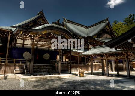 Japanese shinto Ise Grand shrine , Ise, Japan - Stock Image