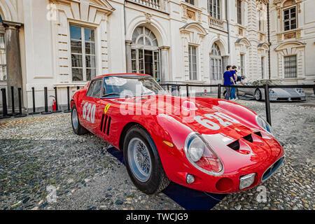 Piedmont Turin - Turin auto show 2019  - Valentino park - Valentino castle - Ferrari 250 GTO - Stock Image
