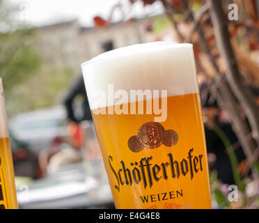 Schofferhofer wheat beer in Germany - Stock Image