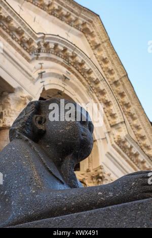 Sphinx, Diocletian Palace, Split, Croatia - Stock Image