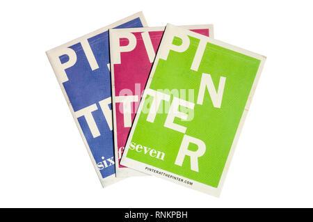 A selection of  programmes from the  Pinter at the Pinter season of Harold Pinter's short plays at the Pinter Theatre. - Stock Image
