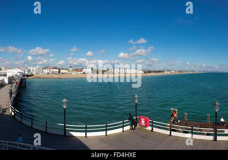 Worthing Sea Front to the east viewed from the pier - Stock Image