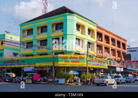Maharat Road, at Soi 4, Krabi town, Thailand - Stock Image
